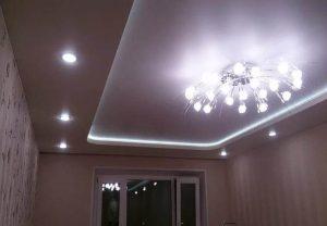 Двухуровневые потолки с подсветкой