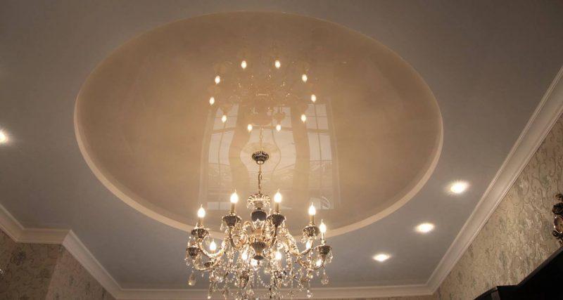 Круглый потолок с подсветкой 1