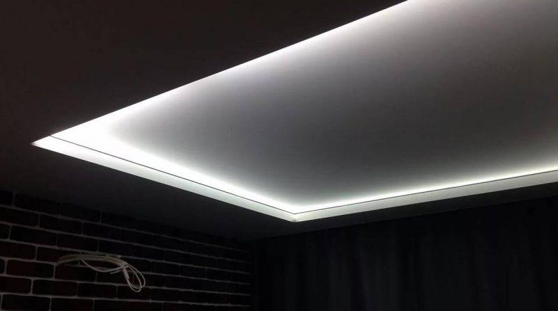 Матовые потолки с подсветкой