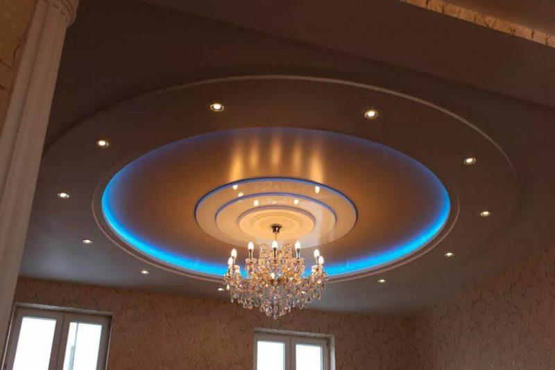 Круглый потолок с подсветкой 2