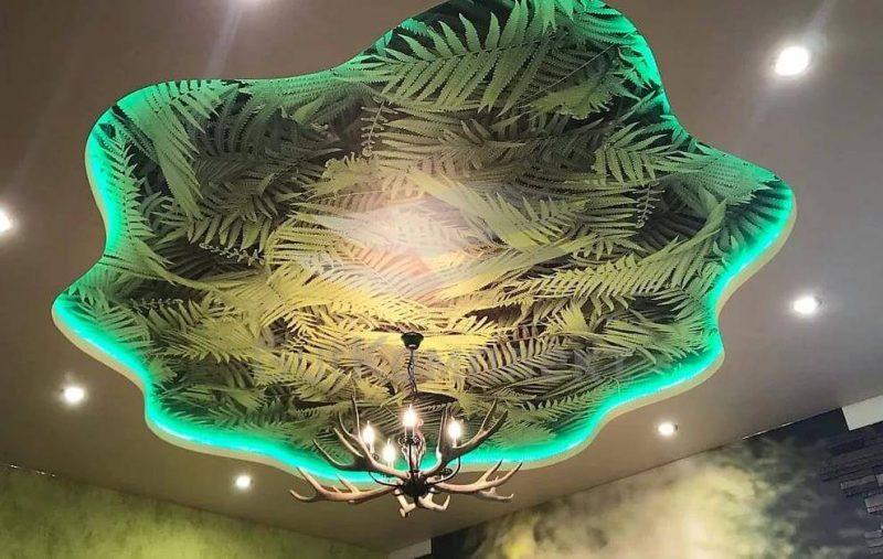 Потолок с рисунками