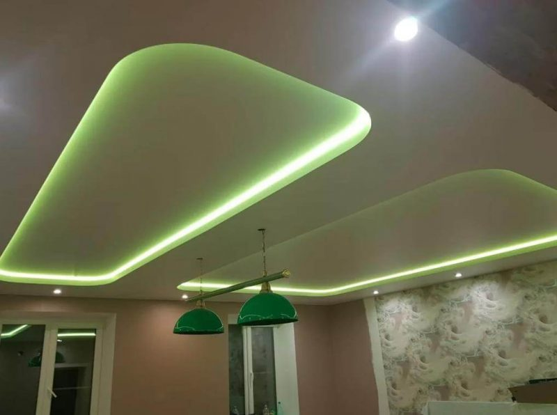 Зелёная подсветка