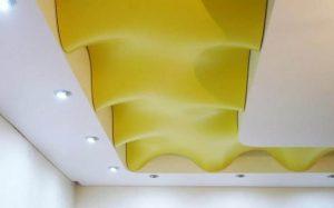 Потолок сложные формы с подсветкой 1